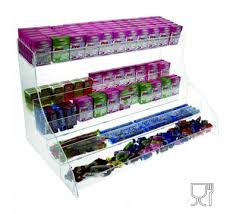 5 tier acrylic countertop candy bin dimensions 24 wx14 17