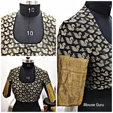 U Neck Saree Blouse Design Back High Neck Front U Neck And Elbows Sleep Present