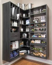 Corner Kitchen Pantry Black Kitchen Pantry Storage Outofhome