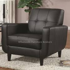 elegant black leather accent chair coaster black faux leather accent chair gowfb