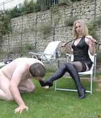 Strap on outdoor femdom