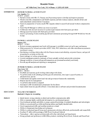 accoutant resumes payroll accountant resume samples velvet jobs