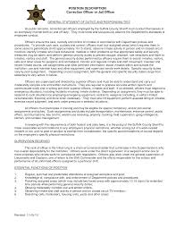 Correctional Officer Resume Sufficient Imagine Examples Cv Cover