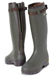 arxus boots primo leather zip wellingtons dark olive