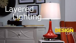 layered lighting. Layered Lighting: Design Clips By Slumberland Furniture Lighting