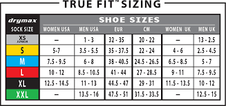 Mens Xs Size Chart Drymax Sports Sock Fit Technical Features