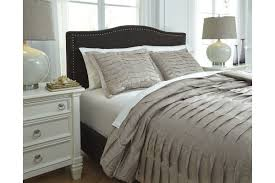 voltos king duvet cover set in brown by ashley from gardner white furniture