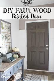 diy faux wood painted door