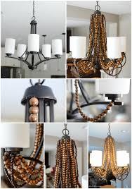 rustic glam chandelier diy collage