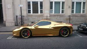 The Gold Plated Ferrari Exists And It Costs Around 200 000