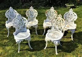set of 6 victorian coalbrookdale cast