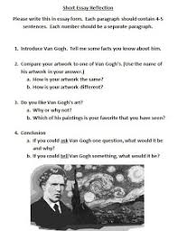 best starry night by vincent van gogh images  van gogh rubric essay more common core