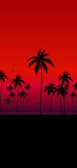 RED OLED PALMS AESTHETIC WALLPAPER ...