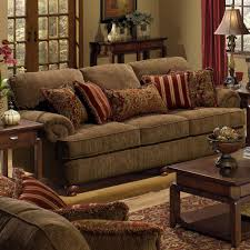 Belmont Sofa with Rolled Arms and Decorative Pillows by Jackson