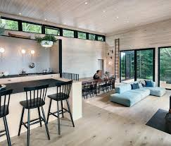 floor turns into built in bench seating
