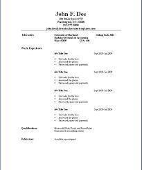 Simple Job Resume Format Easy Resume Format Simple Job Resume