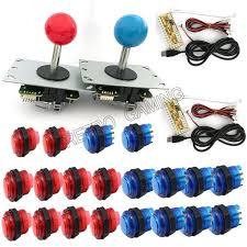 2 players diy arcade joystick kits with 20 led arcade ons 2 joysticks 2 usb