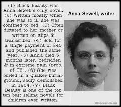 Anna Sewell Black Beauty Quotes Best of Anna Sewell Black Beauty Other Writers Appreciated Too Late