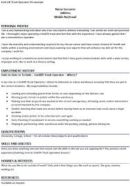 Forklift Driver Warehouse Worker Resume. Warehouse Work Resume ...