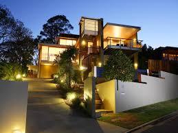 exterior lighting design ideas. modern exterior home with cool lighting design ideas