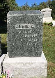 "Junie Etter """"Janie"""" Curtis Porter (1857-1898) - Find A Grave Memorial"