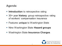 of workers compensation insurance features unique to washington state nine washington state hazard groups washington state insurance charges