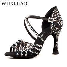 WUXIJIAO Women Salsa party Ballroom shoes <b>Latin dance</b> shoes ...