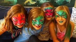 lisa face painting tigers mardi gra