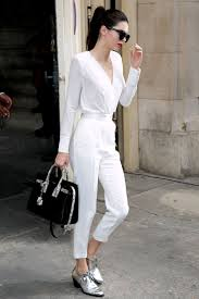 paris france july 07 kendall jenner leaves the chanel show as part of