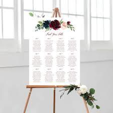 Wedding Seating Chart Editable Seating Chart Editable