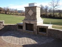 foyer outdoor fireplace techo bloc