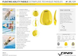 Finis Agility Paddles Floating 105129 In Yellow