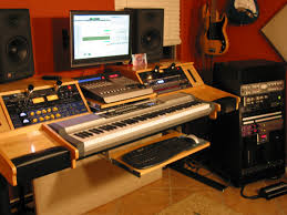image result for recording studio desk