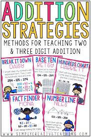 Three Hundred Chart 2 3 Digit Addition Strategies Simply Creative Teaching