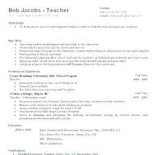 Resume Format For Teachers In Word Format Extraordinary Samples Of Teacher Resumes Amere