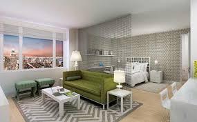 contemporary studio apartment design. Haus Interior: Modern Green \u0026 Gray Contemporary Studio Apartment Design With Hanging Metal Partition, T