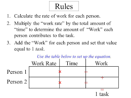 use the table below to set up the equation