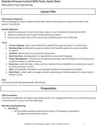 Gantt Chart Lesson Lesson Plan Preparation Pdf
