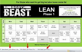 body beast lean workout sheets beautiful body beast workout sheets excel