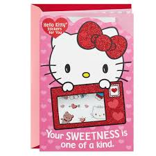 Hello Kitty Valentines Day Card With Stickers