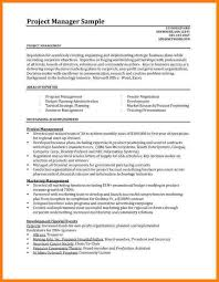 hr internship resume example resume sample of project manager    sample resumes for project managers project manager sample