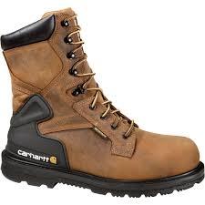 waterproof steel toe work boots bison brown size 10 wide