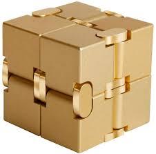 X-xyA Infinity <b>Cube</b> Fidget Toy,<b>Aluminum Alloy</b> Metal Handheld ...