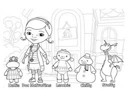 Doc Mcstuffin Coloring Pages Doc Mcstuffins And Friends In Doc