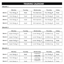 Daily Fitness Schedule Template Exercise Chart Excel Workout Weekly
