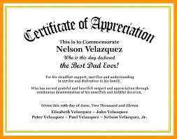 Certificate Of Recognition Wordings Template For Employee Appreciation Certificate Recognition Free Of