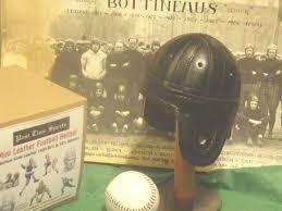 details about 1940 black chicago bears mini 1 3 scale leather football helmet sid luckman era