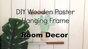 diy wooden magnetic poster hanging frame room decor