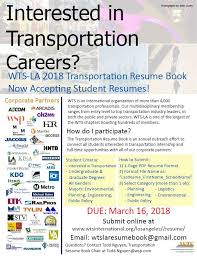 WTSLA Transportation Resume Book Urban Studies And Planning Blog Magnificent Resume Book