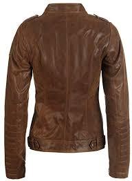 desires zalla women s leather jacket biker jacket with revers collar made of genuine leather b0141blz2u